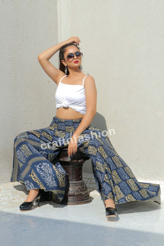 Vintage Silk Sari Made Trouser