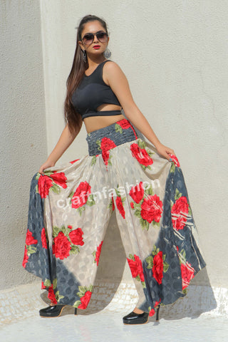 Beach wear Floral Trouser-Yoga Wear