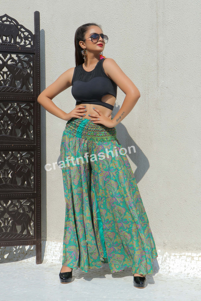 Floral Print Indo Western Trouser