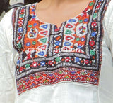 Natural Khadi One Piece With Kutch Yoke