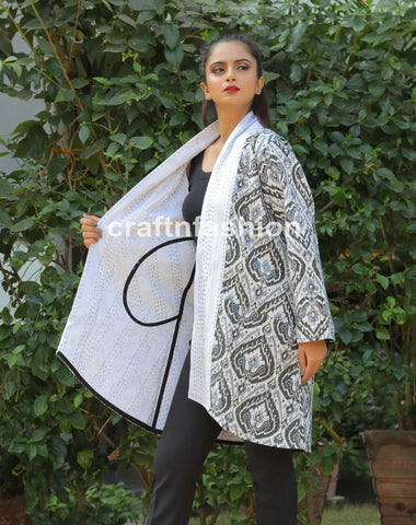 European Style Long Kantha Jacket