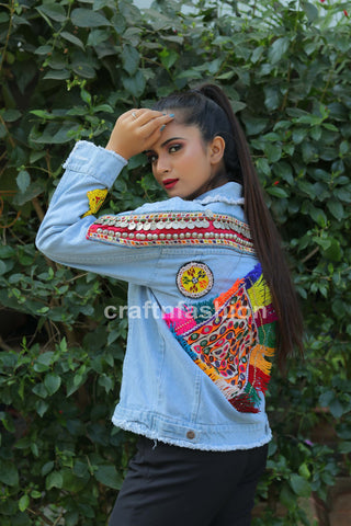 Bohemian Gypsy Tribal Denim Jacket