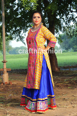 Indian Traditional Kurti With Kutch Patch