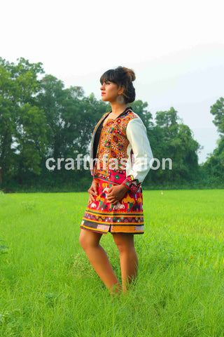 Multicolored Bohemian Banjara Jacket