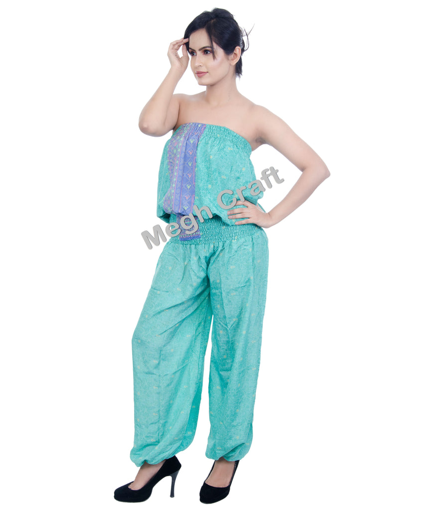 Summer Wear Silk Jumpsuit