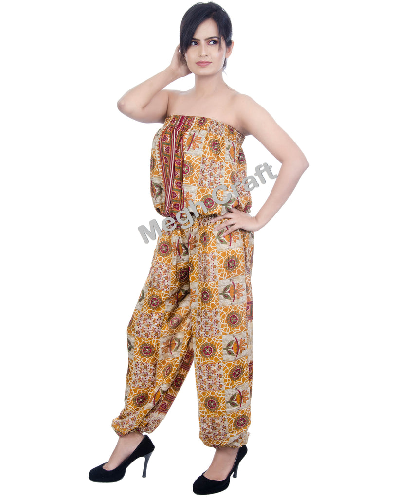 Trousers Style Silk Jumpsuit