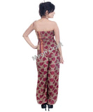 Hand painted silk jumpsuit