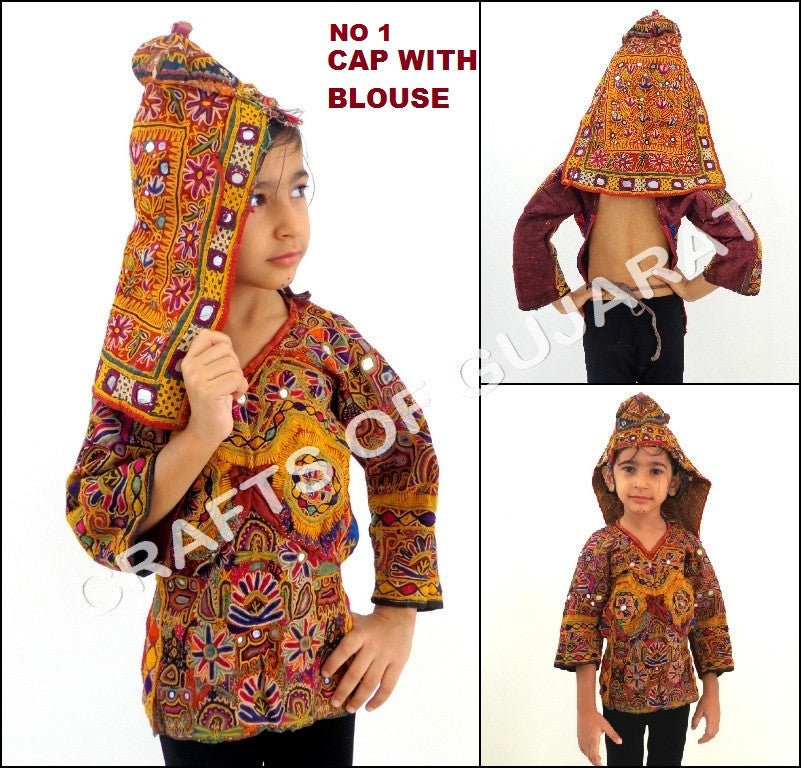 Tribal Kutch Style Cap With Blouse