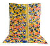 Kantha Throw Handmade Quilt Blanket
