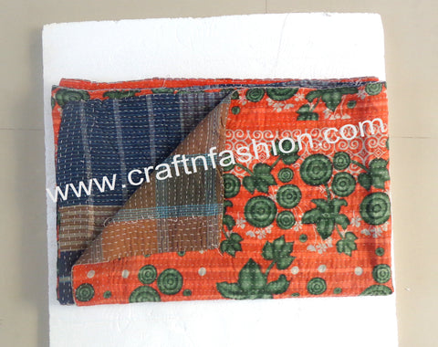 Cotton Saree Customized Kantha Quilts
