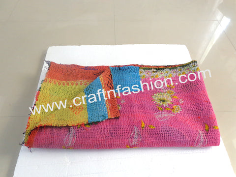 Cotton Patch Work Kantha Blanket