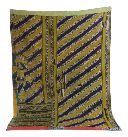 Multicolored Gypsy Tribal Kantha Throw
