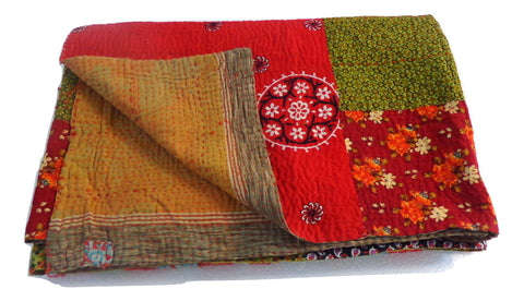 Patch Work Multicolored Kantha Throws