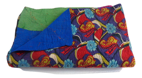 Home Decor Vintage Kantha Bedspread