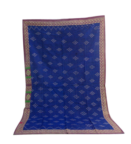 Kantha Quilt Blue Color Reversible Vintage Thorw
