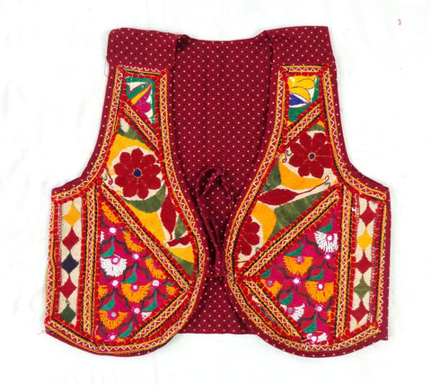 Copy of Gujarati Hand Embroidered Jacket Koti