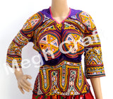 Gujarati Hand Embroidered Mirror Work  Blouse