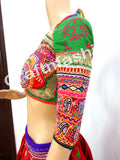Traditional Embroidered Mirror Blouse Top