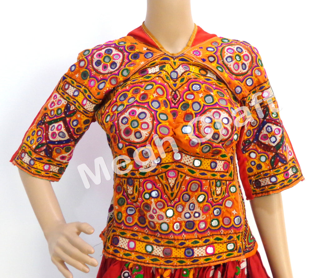 Embroidered Kutch Mirror Work Blouse