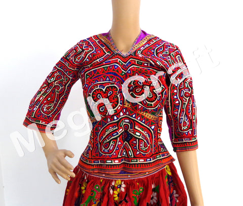 Navratri Wear Mirror work Blouse Top