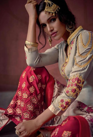 Exclusive Designer Festive Wear Palazzo Suit