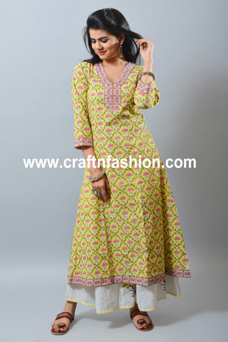 Set of Summer Wear Kurti Palazzo & Stole