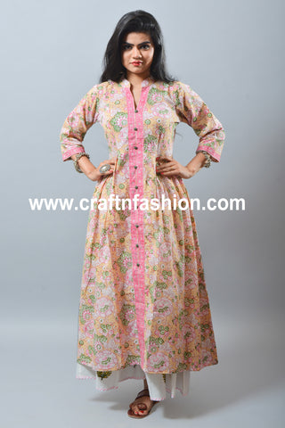 Beach Wear Cotton Dress - Designer Palazzo