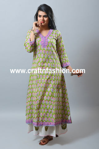 Natural Cotton Summer Kurti & Palazzo