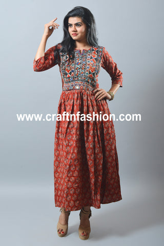 Traditional Kutch Embroidered One Piece