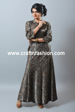 Gaji Silk Long One Piece/Gown