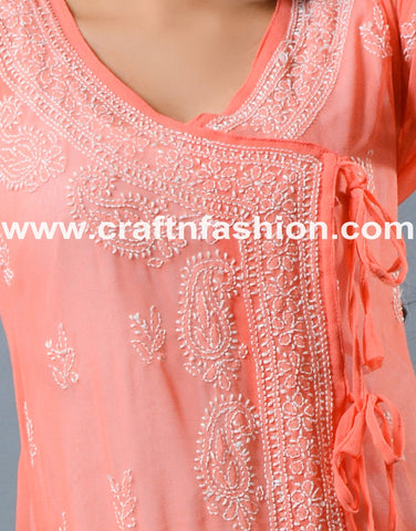Indian Fashion Wear Designer Lucknowi Top