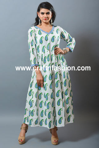 Mughal Era Print Cotton One Piece