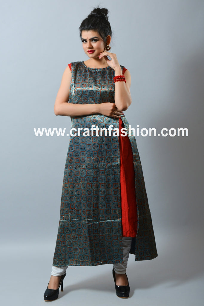 Indian Designer Gaji Silk Dress