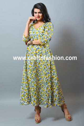 Summer Wear Handmade Long Dress