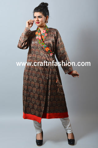 Festive Wear Mashroo Silk Kurti