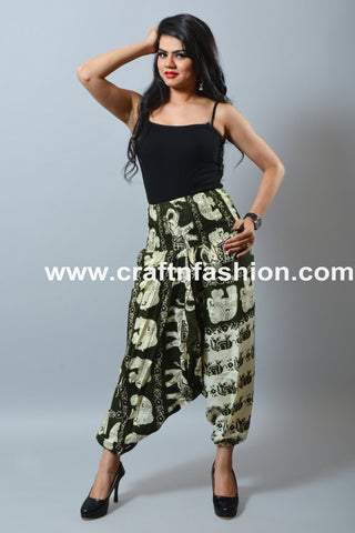Dance Wear Elephant Design Harem Pant