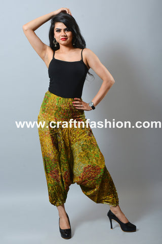 High Waist Boho Hippie Harem Trouser