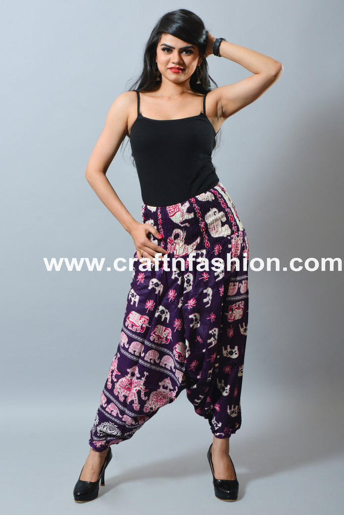 Elephant Design African Style Baggy Pant