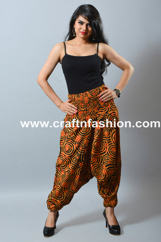 Spiral Printed Summer Wear Harem Trouser