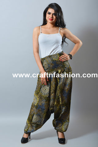 Hippie Gypsy Multicolored Harem Pant