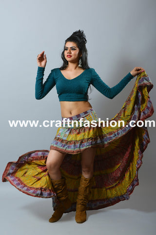 Spanish Dance Wear-American Style Tribal Skirt