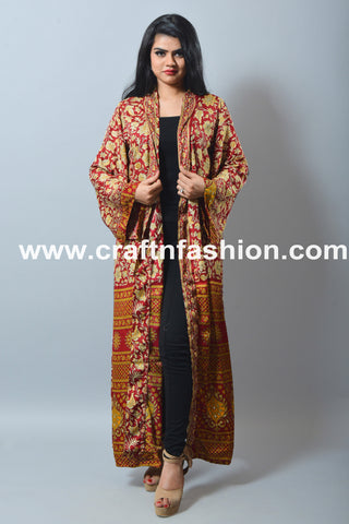 Floral Swimsuit Kimono-Summer Wear Silk Cardigan