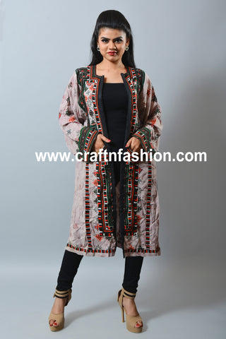 Hand Embroidered Afghani Style Jacket