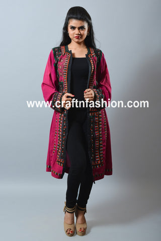 Hand Embroidered Balochi Kuchi Jacket