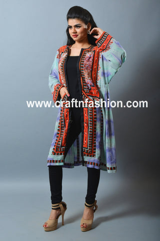 Tribal Gypsy Handmade Long Balochi Jacket