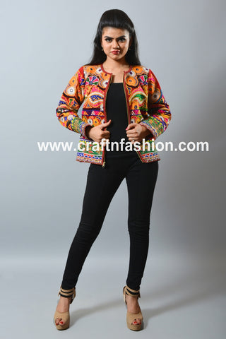 Banjara Boho Hippie Embroidered Short Jacket