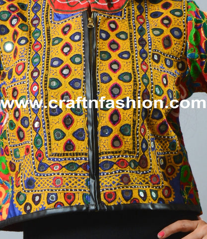 Kutch Embroidery Mirror Work Short Jacket