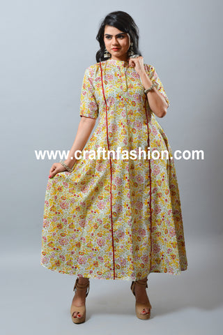 Long Summer Wear Ladies Dress