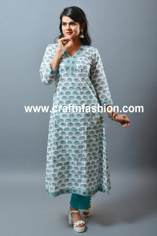 Indian Designer Ethnic Wear Kurti & Pant