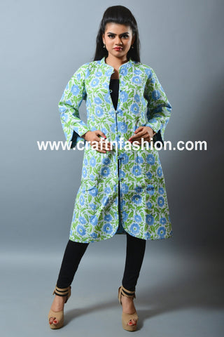 Ladies Fashion Kantha Quilt Boho Jacket